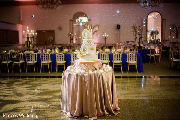Cakes & Treats in Chicago, IL Indian Wedding by Mateos Wedding