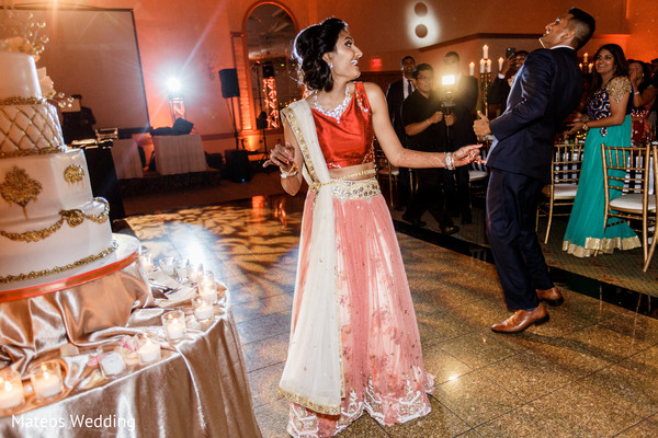 Reception in Chicago, IL Indian Wedding by Mateos Wedding