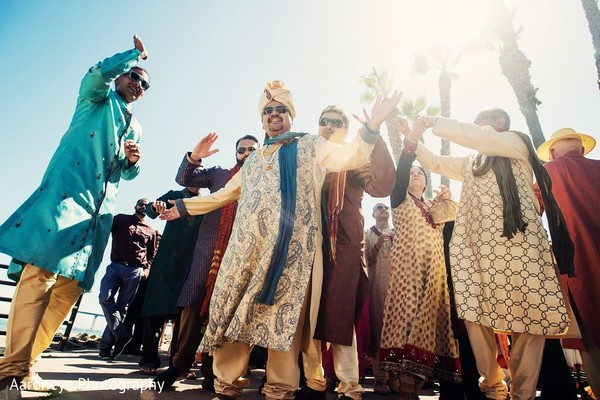 Baraat in Coronado, CA Indian Wedding by Aaroneye Photography