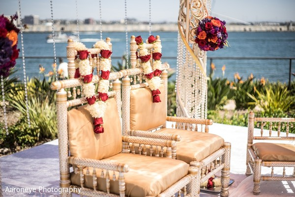 Floral & Decor in Coronado, CA Indian Wedding by Aaroneye Photography