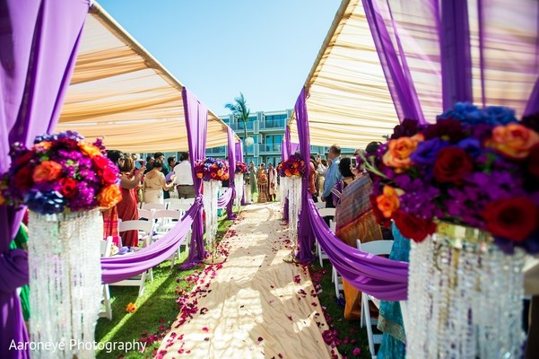 Ceremony in Coronado, CA Indian Wedding by Aaroneye Photography