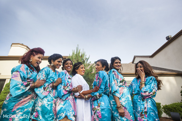 Bridal Party in Nashville, TN Indian Wedding by McLellan Style
