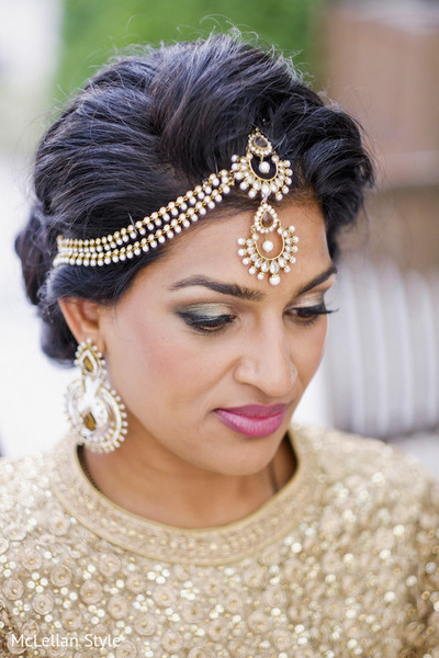 Hair & Makeup in Nashville, TN Indian Wedding by McLellan Style