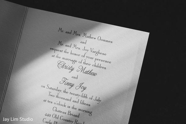 Stationery in Carle Place, NY Indian Wedding by Jay Lim Studio