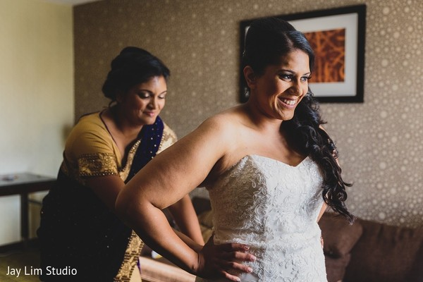 Getting Ready in Carle Place, NY Indian Wedding by Jay Lim Studio
