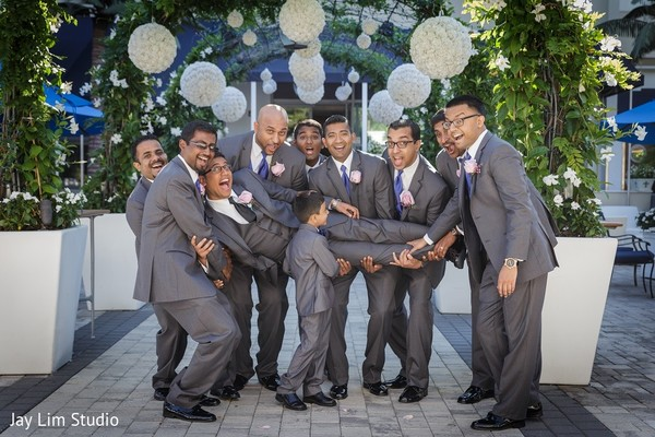 Groomsmen in Carle Place, NY Indian Wedding by Jay Lim Studio