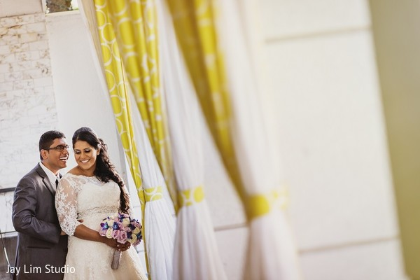First Look in Carle Place, NY Indian Wedding by Jay Lim Studio