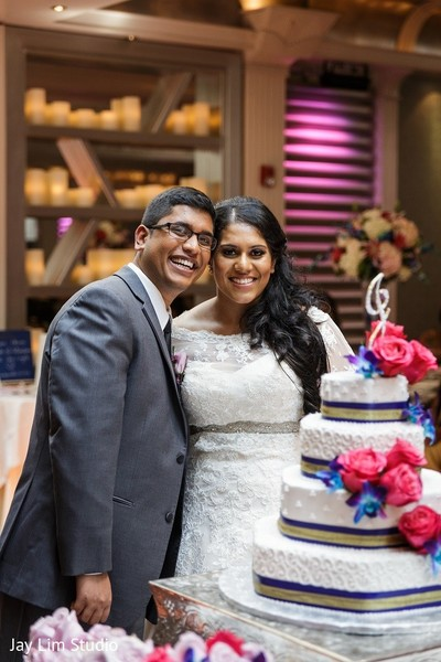 Reception in Carle Place, NY Indian Wedding by Jay Lim Studio