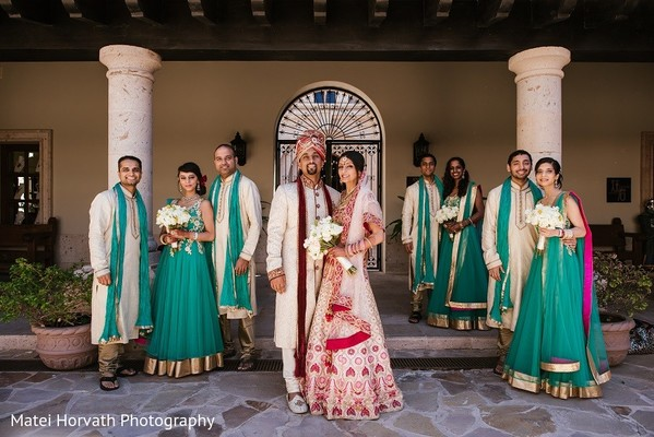 Wedding Party in Cabo San Lucas, Mexico Indian Destination Wedding by Matei Horvath Photography