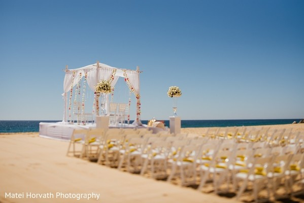 Ceremony Venue in Cabo San Lucas, Mexico Indian Destination Wedding by Matei Horvath Photography