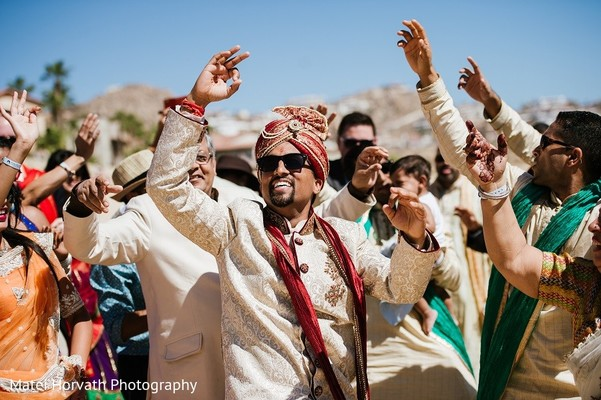 Baraat in Cabo San Lucas, Mexico Indian Destination Wedding by Matei Horvath Photography