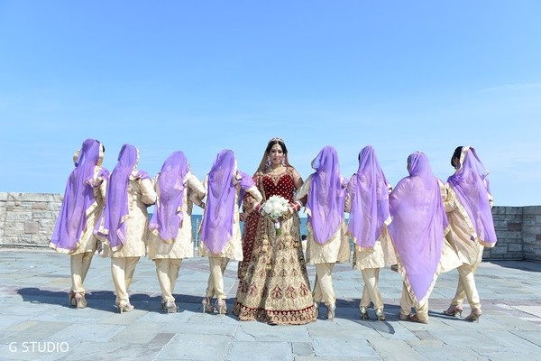 Bridal Party in Toronto, Canada Sikh Wedding by G Studio