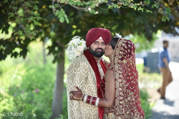 First Look in Toronto, Canada Sikh Wedding by G Studio