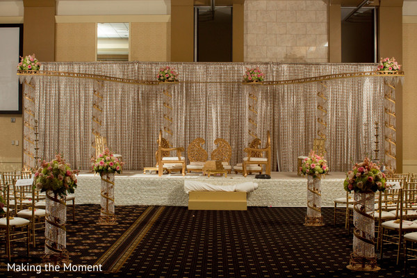 Floral & Decor in Cleveland, OH Indian Wedding by Making the Moment