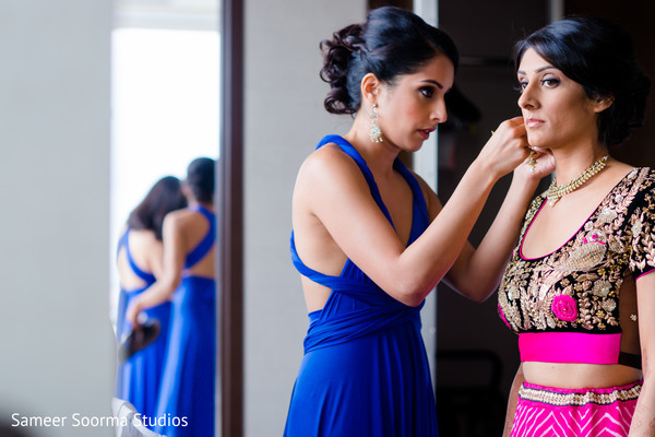 Getting Ready in Phoenix, AZ Fusion Wedding by Sameer Soorma Studios