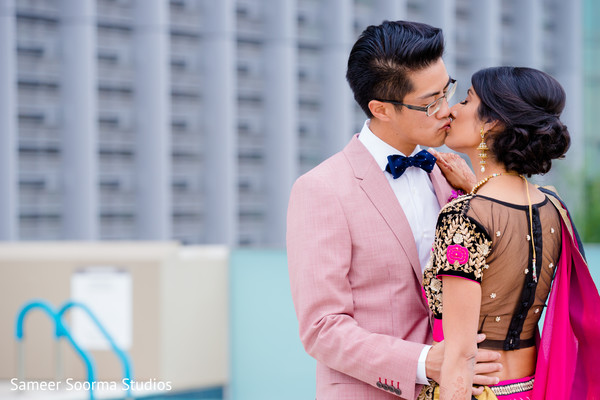 First Look Portraits in Phoenix, AZ Fusion Wedding by Sameer Soorma Studios