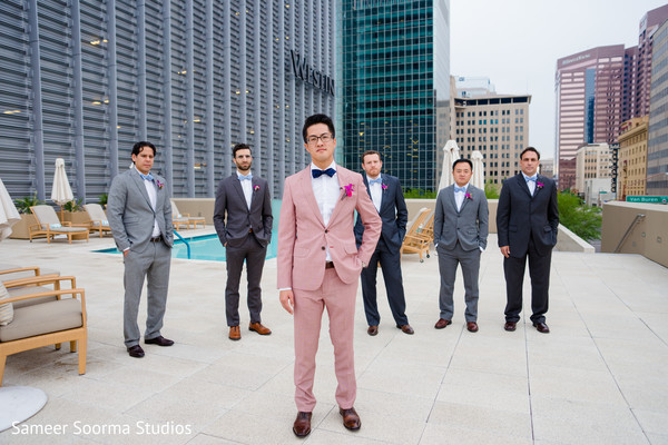 Groomsmen Portraits in Phoenix, AZ Fusion Wedding by Sameer Soorma Studios