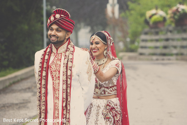 First Look in Ontario, Canada Indian Wedding by Best Kept Secret Photography