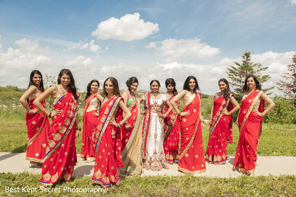 Bridal Party in Ontario, Canada Indian Wedding by Best Kept Secret Photography