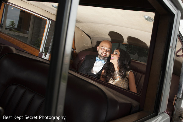 Reception Portrait in Ontario, Canada Indian Wedding by Best Kept Secret Photography