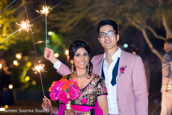 Reception in Phoenix, AZ Fusion Wedding by Sameer Soorma Studios