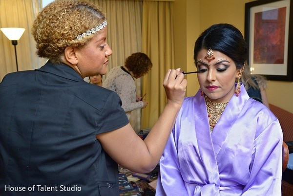 Getting Ready in Bridgewater, NJ Indian Wedding by House of Talent Studio
