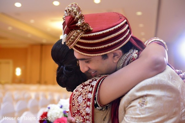 First Look in Bridgewater, NJ Indian Wedding by House of Talent Studio