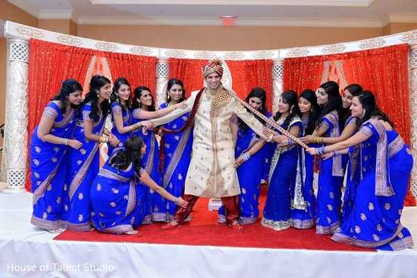 Bridal Party in Bridgewater, NJ Indian Wedding by House of Talent Studio