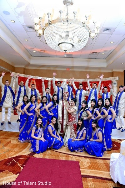 Wedding Party in Bridgewater, NJ Indian Wedding by House of Talent Studio
