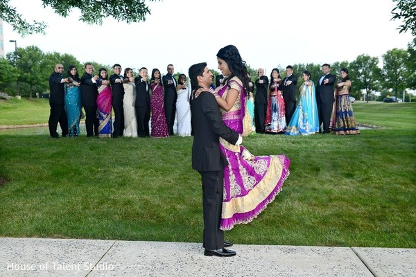 Reception Portrait in Bridgewater, NJ Indian Wedding by House of Talent Studio
