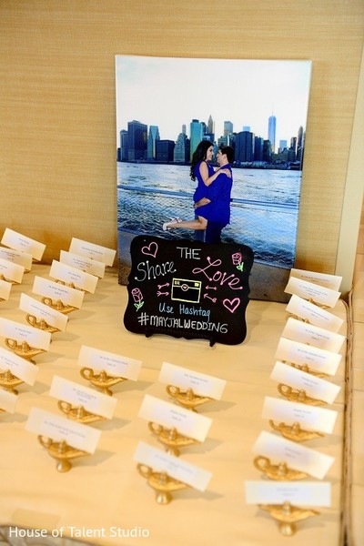 Place Cards in Bridgewater, NJ Indian Wedding by House of Talent Studio