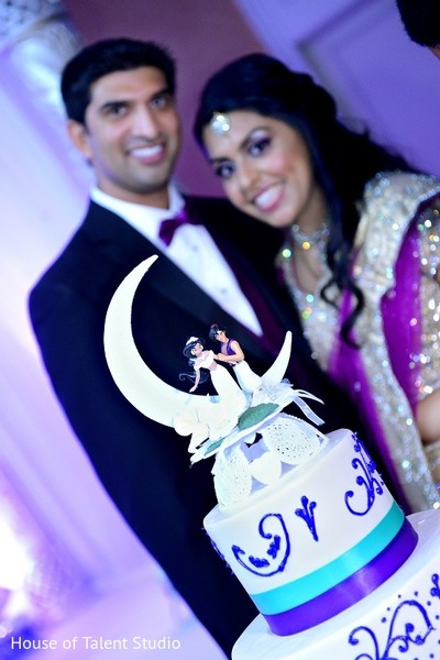 Cake Topper in Bridgewater, NJ Indian Wedding by House of Talent Studio