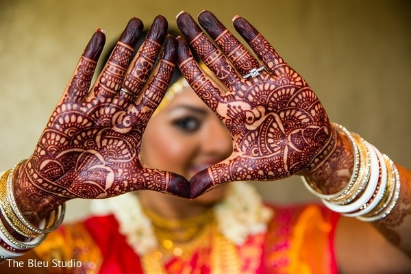 Mehndi in Somerset, NJ Indian Wedding by The Bleu Studio