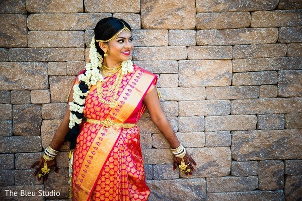 Bridal Portrait in Somerset, NJ Indian Wedding by The Bleu Studio