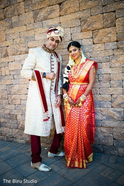 First Look in Somerset, NJ Indian Wedding by The Bleu Studio