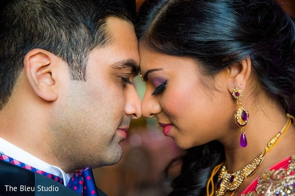 Reception Portrait in Somerset, NJ Indian Wedding by The Bleu Studio