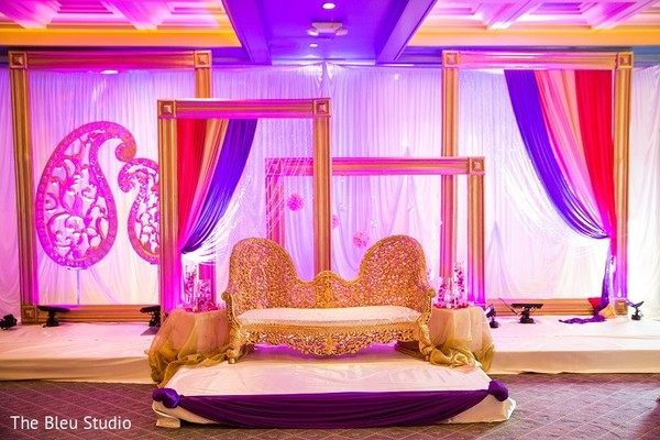 Floral & Decor in Somerset, NJ Indian Wedding by The Bleu Studio