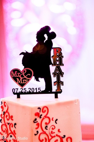 Cake Topper in Somerset, NJ Indian Wedding by The Bleu Studio