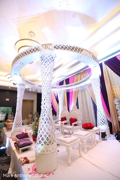 Mandap in Ontario, Canada Fusion Wedding by  Mark Anthony Studios