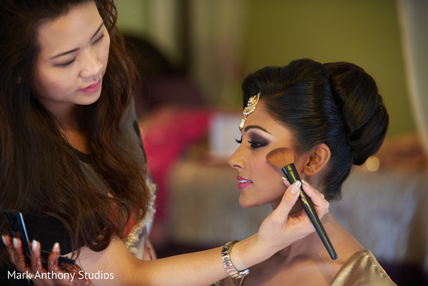 Getting Ready in Ontario, Canada Fusion Wedding by  Mark Anthony Studios