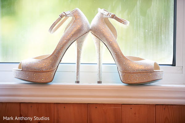 Bridal Shoes in Ontario, Canada Fusion Wedding by  Mark Anthony Studios
