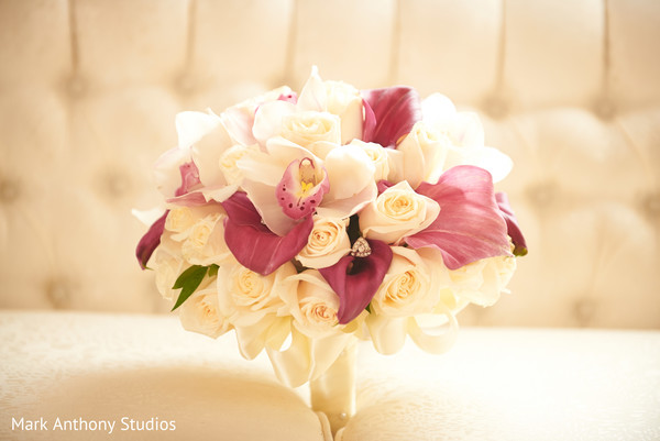 Bridal Bouquet in Ontario, Canada Fusion Wedding by  Mark Anthony Studios