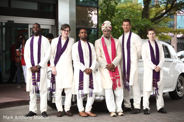 Groomsmen Portraits in Ontario, Canada Fusion Wedding by  Mark Anthony Studios