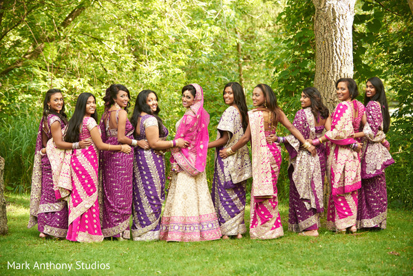 Bridal Party Portraits in Ontario, Canada Fusion Wedding by  Mark Anthony Studios