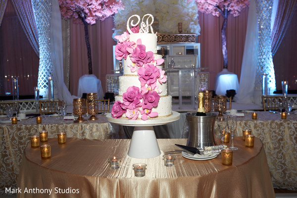 Reception Decor in Ontario, Canada Fusion Wedding by  Mark Anthony Studios