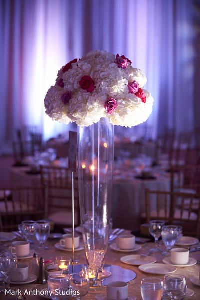 Centerpieces in Ontario, Canada Fusion Wedding by  Mark Anthony Studios