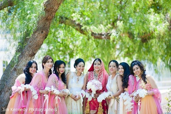 Bridal Party in Westlake Village, CA Sikh Wedding by Jim Kennedy Photographers