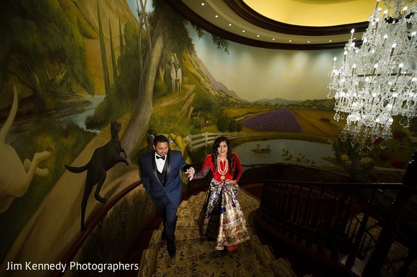 Reception Portrait in Westlake Village, CA Sikh Wedding by Jim Kennedy Photographers