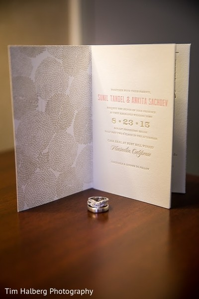 Stationery in Pleasanton, CA Indian Wedding by Tim Halberg Photography
