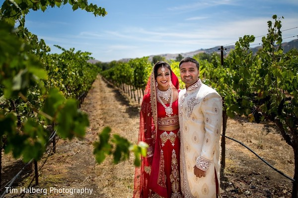 First Look in Pleasanton, CA Indian Wedding by Tim Halberg Photography
